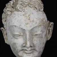Fig. 27 - Head of a bodhisattva (?) from Chapel 4 (TN CH 4 no. 21)