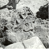Brickwork collapsed in the courtyard, 1959 ©Italian Archaeological Mission in Afghanistan