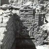 Dadoes and brickwork in west area, 1960 ©Italian Archaeological Mission in Afghanistan