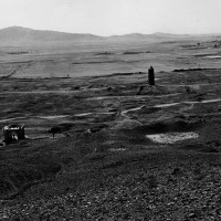 Mausoleum of Sebuktegin and minaret of Bahram Shah, 1957 ©Italian Archaeological Mission in Afghanistan