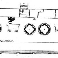 Upper Terrace - The row of stupas and thrones, (Dep. CS 4010 f.3)