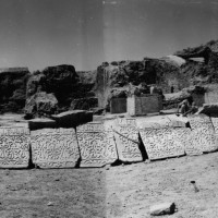 Marble dadoes, 1960 ©Italian Archaeological Mission in Afghanistan
