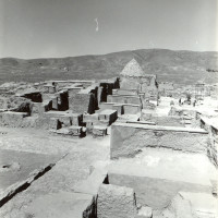 South-west area of the palace with residential quarters and ziyara of Ibrahim in 1962 ©IsIAO archives Ghazni/Tapa Sardar Project 2014