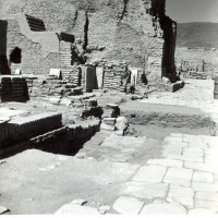 West area of courtyard, view from south, 1964 ©Italian Archaeological Mission in Afghanistan