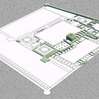 3D model of structures excavated in the palace (C. Passaro 2014). Copyright: ©IsIAO archives Ghazni/Tapa Sardar Project 2014