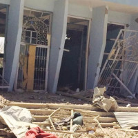 Damages in the new Islamic Museum in Ghazni, 2014