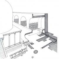 Isometric view of  of the Upper Terrace (Elio Paparatti)
