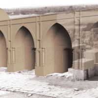 Hypothetical rendering of the south-east antechambers (C. Passaro 2014). Copyright: ©IsIAO archives Ghazni/Tapa Sardar Project 2014