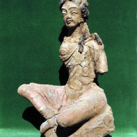 Bodhisattva with crossed legs, originally sitting on a lotus, from Chapel 37 - TS 1500