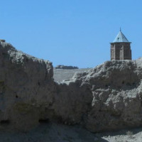 Minaret of Mas'ud III, view from palace, 2004 ©Italian Archaeological Mission in Afghanistan