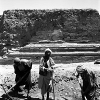 1962, excavation work on the Upper Terrace (R1786_6)