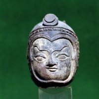 Lokapala (protector of a cardinal point) with helmet, from Stupa 5 - TS 1016
