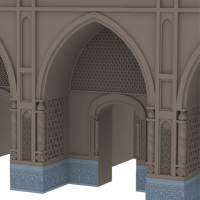 Hypothetical 3D reconstruction of the decoration in marble and terracotta of antechambers (C. Passaro 2014). Copyright: ©IsIAO archives Ghazni/Tapa Sardar Project 2014
