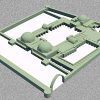 Hypothetical 3D reconstruction of the palace (C. Passaro 2014). Copyright: ©IsIAO archives Ghazni/Tapa Sardar Project 2014
