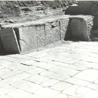 North-east area of the courtyard, view from north, 1961 ©Italian Archaeological Mission in Afghanistan