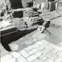 West area of courtyard, view from south-east, 1964 ©Italian Archaeological Mission in Afghanistan