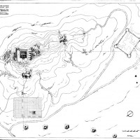 The topographic plan of the site (Dep. CS 4046)