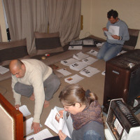 Sorting the inventory cards for the Kabul National Museum, 2005 ©IsIAO archives Ghazni/Tapa Sardar Project 2014