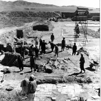 East area of courtyard, view from north, 1962 ©Italian Archaeological Mission in Afghanistan