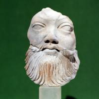 Silenus-like moustached head - TS 1502
