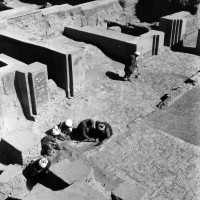Courtyard of private apartments, 1962 ©Italian Archaeological Mission in Afghanistan