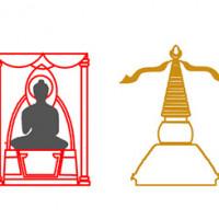 Upper Terrace - The row of stupas and thrones, elevation sketch (Donatella Ebolese)