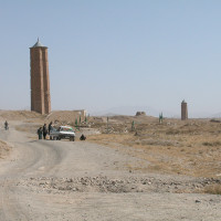 Minaret of Bahram Shah and minaret of Mas'ud III in the distance, 2004 ©IsIAO archives Ghazni/Tapa Sardar Project 2014
