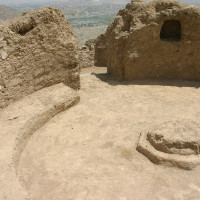 Fig. 33 - Terrace 9: circular room with fire altar in the centre