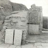 West area of courtyard, view from east, 1966 ©Italian Archaeological Mission in Afghanistan