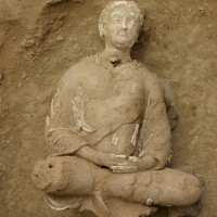 Fig. 22 - Seated Buddha from Chapel 4 (TN CH 4 no. 17)