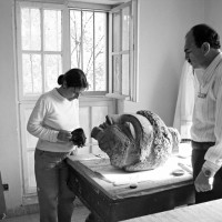 2003 - Restoration of the Buddha head (TS 1144) at the Kabul Museum