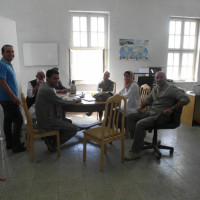 The team at the Kabul National Museum, 2013 ©IsIAO archives Ghazni/Tapa Sardar Project 2014