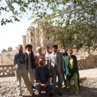 The team in front of the Kabul National Museum, 2004 ©IsIAO archives Ghazni/Tapa Sardar Project 2014