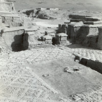 Courtyard of private area, 1959 ©Italian Archaeological Mission in Afghanistan
