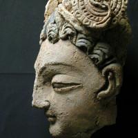 Head of bodhisattva from Chapel 37 - TS 1220