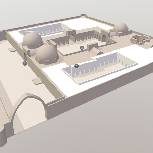 3D-model of the Ghazni palace